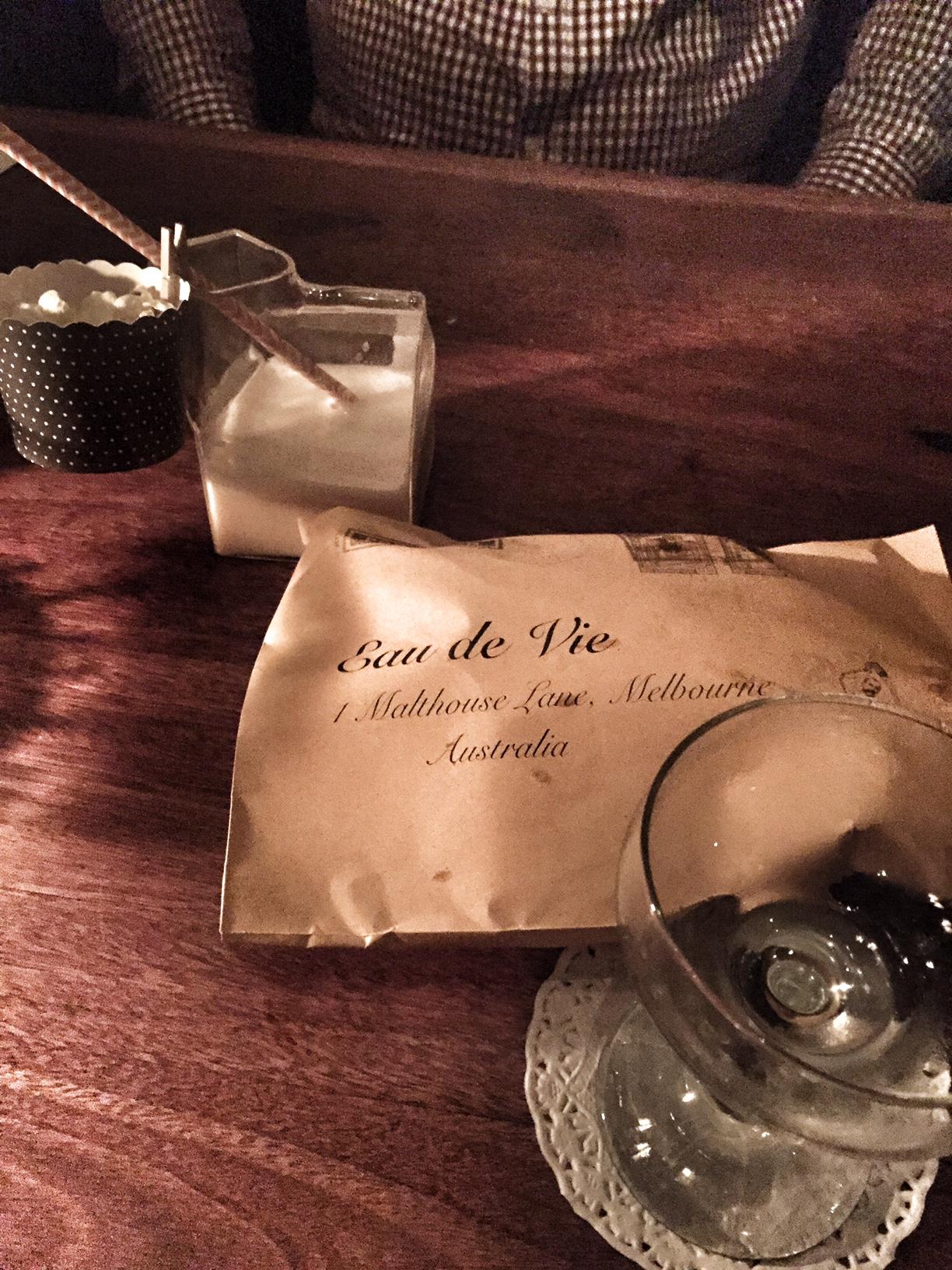 Eau De Vie Melbourne – Cocktail DegustationReview